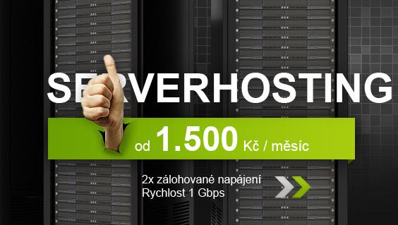Serverhosting - 2x zálohované napájení, Rychlost 1 Gbps